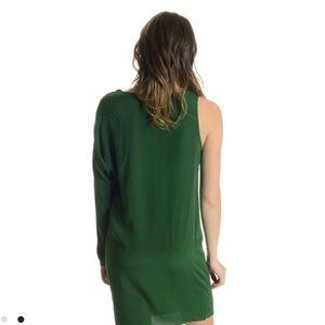 Haute Hippie Dresses - Haute hippie silk one shoulder green dress mini